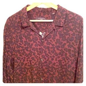 All Saints XL leopard print l/s blouse!